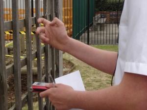 recording the railings