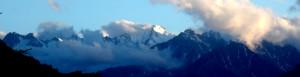 mountain slice blue